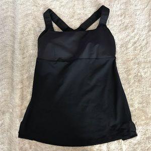 Lululemon Athletic Top, w/Padded Bra Black Size 6